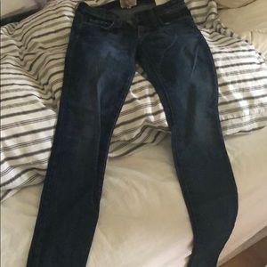 Current Elliott skinny original wash jeans